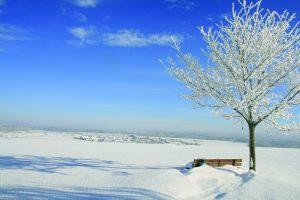 Winterbild Hengen auf der Schwäbischen Alb