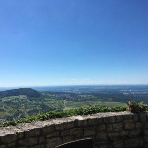 Ausblick vom Hohen Neuffen Richtung Metzingen