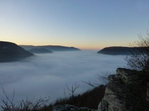Bad Urach unter der Nebeldecke