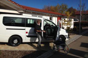 Ausflug mit Rollstuhl