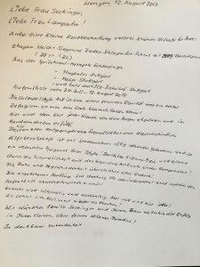 handschriftlicher Gästebucheintrag